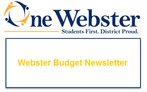 One webster Logo with link to WCSD Budget Newsletter